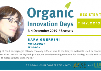 MyPack project in TP Organics's Innovation Days 2019 | Brussels (Belgium)